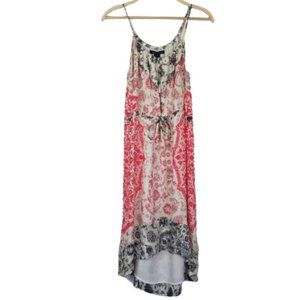 French Connection Silk Paisley Drawstring Dress